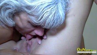 Image: OldNannY Horny Granny Licking Hot Teen Lesbian
