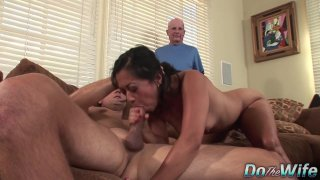 Asian Wife Lucky Starr Is Pounded by a Stranger_as Her Husband_Looks On image