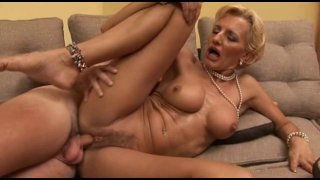 Charming mom with big tits seduced and fucked super hard image