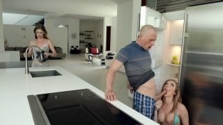 Tiffany Watson gives nice blowjob in the_kitchen image