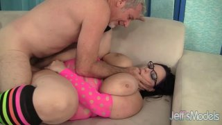 BBW Lyla Everwett Uses Her Floppy Tits and Fat Belly to Make a Dude Cum image
