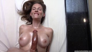 Beautiful MILF sucks and titty-fucks her black lovers_monster cock image