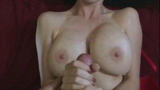 Image: Curvy and beautiful 20yr old girl jerks her boyfriend's dick