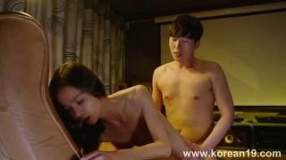 Korean gal fucked doggy style and eagerly awaits big load image