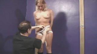 Manhandled womans boobs image