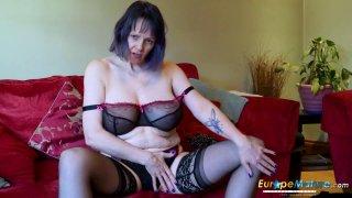 EuropeMaturE Lonely Lady Solo Masturbation Video image