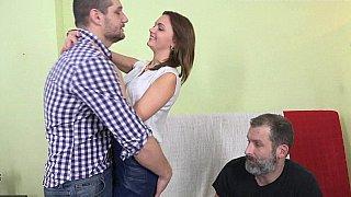 Humiliating cuckolding anal image