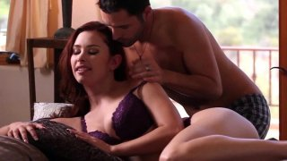 Hot brunette Melody Jordan just loves giving a blowjob image
