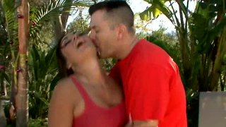 Image: Dream girl Claudia Valentine gets horny and blows cock