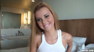 POV video of thick ass busty bbw blonde Jessie Rogers fucked anal. image