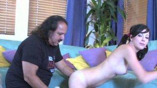 Image: Fat fart enjoys Kenna Kane deep throat.
