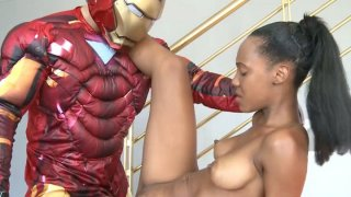 Iron man came to fuck black whore noe milk ⁃ iron steel image