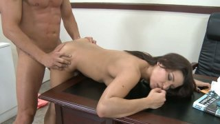 Sex goddess Ann Marie Rios fucks in the office and gets cumshot image