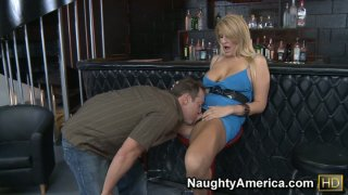 Image: Nasty milf Robbye Bentley getting her pussy eaten and fucking right at the_bar