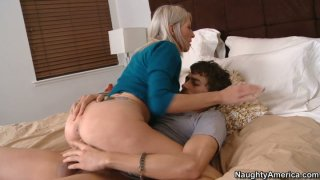 Dirty milf Emma Starr pleases long dick image