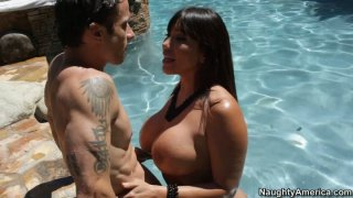 There is a dick swimming in the pool for Ava Devine image