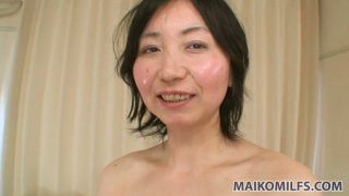 Image: Dirty minded granny Junko Konno strips on cam and gets her nipples vibrated