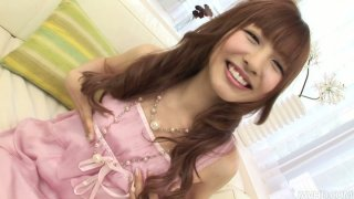 Cute Japanese teen Aisaki Kotone knows what dildos are for image