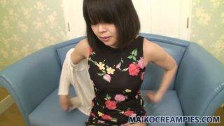 Awesome milf Yukari Yamagishi shows her mature hairy pussy image