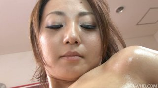 Brilliat Yuu Shiraishi gets her pussy wet with fingers and toys image
