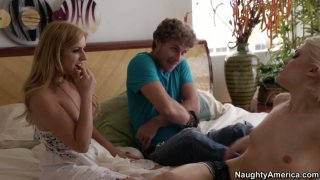Image: Ash Hollywood and her boyfriend decide to have_their first threesome with_Lexi Belle