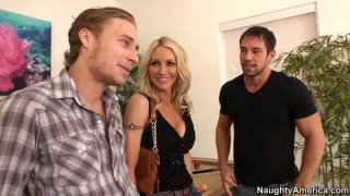 Emma Starr gets fucked by two horny dudes image