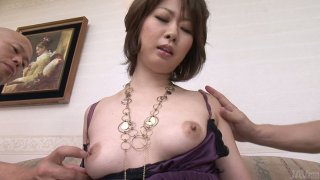 Image: Horny bitch Rio Kagawa gets her nipples squeezed