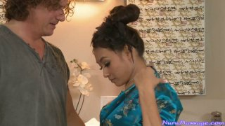 Mature American man spends nice time with sexy Asian Ariel B image