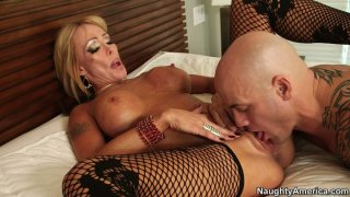 Fuck voracious Houston gets her pussy licked and fucked doggy image