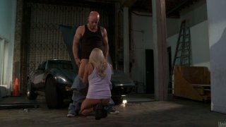 Image: Kinky Stormy Daniels sucks the cock of the street racer