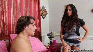Sexy and busty Ariella Ferrera seduces a man and wins a stiff tool image