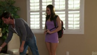 Nasty student Gracie Glam gives a hot_blowjob to her class fellow image