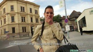 Image: Polish dude picks up classy girl Tea Key right on the street