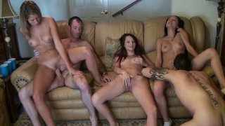 Image: Steamy orgy scene with Nina Rae, Morgan Brooke, Missy Sweet and Candy Cady