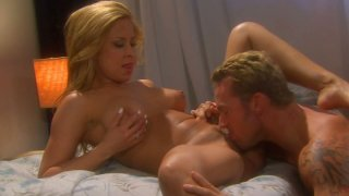 Blonde dude eats and fucks blonde milf whore August image