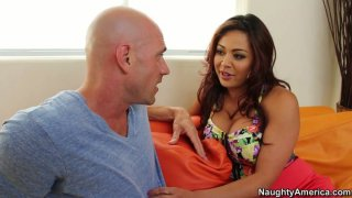 Image: Devilishly attractive Mia Lelani gets pleased by a brutal bald dude