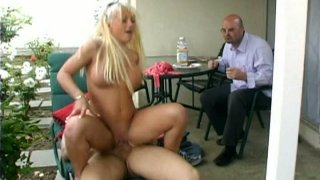 husband fuck her while wife - Weird husband watches her wife lady victoria fucking in his garden image