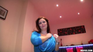 Voracious BBW woman Sirale gives titjob and blowjob for money image