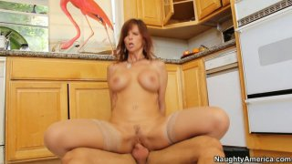 Syren De Mer rides her boyfriend on the_kitchen floor image