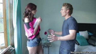 Skinny and hot Katie Jordin_gets turned on by blonde dude image