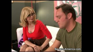 Image: Slutty movie producer Nina Hartley puts every guy for cock audition