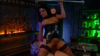 Skanky brunette hoe Eva Angelina gets boned doggystyle image