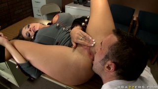 General perversion Nika Noire gets her twat drilled missionary image