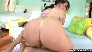 Chubby BBW MILF Jenna Presley needs lubricant to take massive meat pole image
