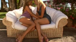 Sultry_blonde_ladies_Sophie_Moone_and_Cayenne_Klein_lesbo_foreplay image