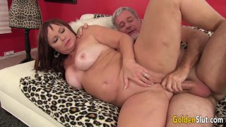 Chubby and Mature Isabelle Love Gets Her Pussy Licked and Fucked image