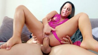 Amara Romani gets all her holes fucked by_three guys image
