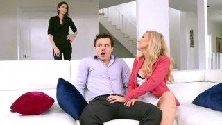 Image: Nina Hartley is sucking cock of her daughter's boyfriend