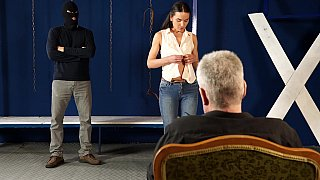 tagalok Scene - Shy model enjoying painful breast torture image