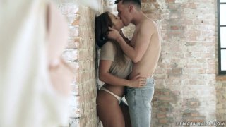 Libidinous hottie Cherry Candy is making love with_new boyfriend image